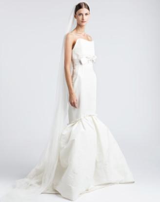 Meerjungfrauen-Brautkleid in Weiß, 5.495,- im LANVIN online Shop
