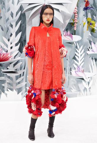 Haute Couture Karl Lagerfeld für Chanel - Cocktailkleid in Lachs