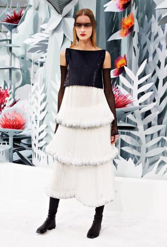 Die Zwanziger Jahre lassen grüßen. Charleston Kleid in Schwarz-Weiß