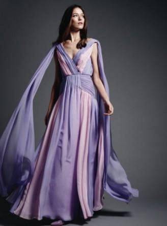 Meissen Couture Abendkleid hellblau, Ballkleid