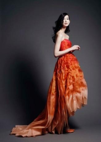 Meissen Couture, exklusives Abendkleid