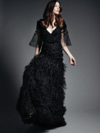 Ballkleid schwarz, Meissen Couture 2015