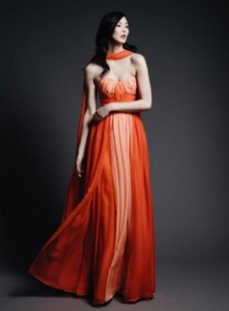 Meissen Couture Abendkleid, Ballkleid