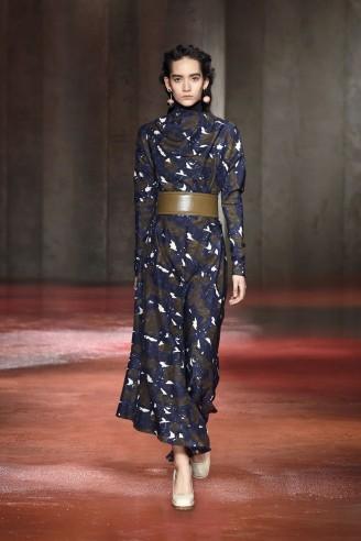 Marni Maxikleid - Langes Kleid mit Ledergürtel