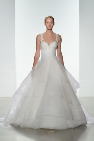 KENNETH POOL Hochzeitskleid mit bauschigem Tüllrock
