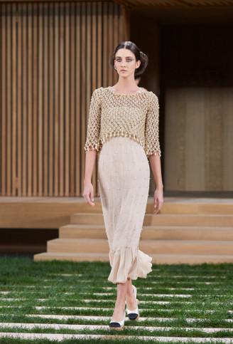 Abendkleid Beige, Chanel 2016