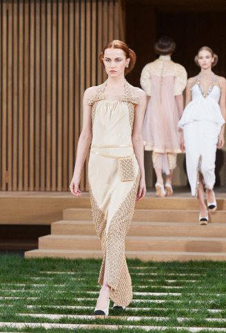 Chanel Abendkleid Nude