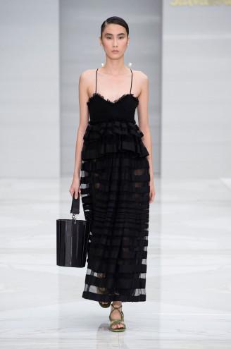 Ferragamo Abendkleid schwarz, lang