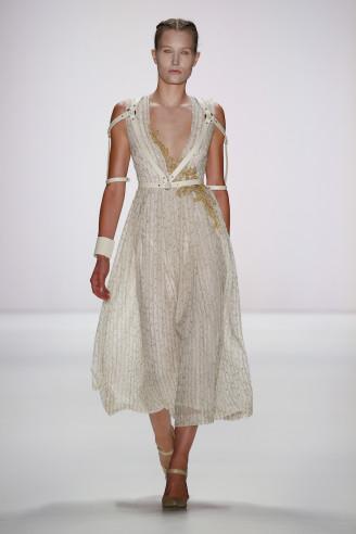 Sommerkleid, leicht transparent mit Gold