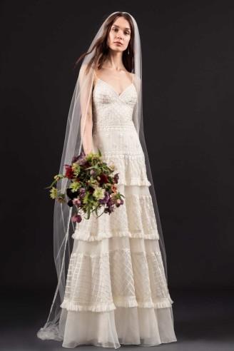 Rüschen Hochzeitskleid - Temperley London