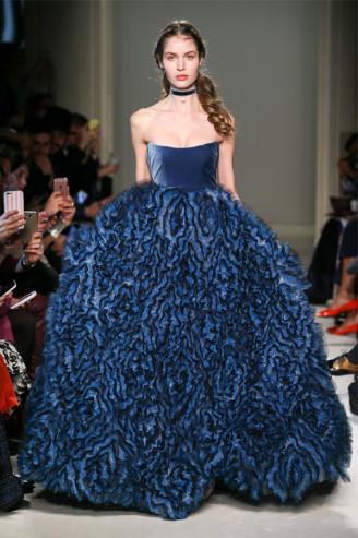 Blaue Abendrobe Luisa Beccaria