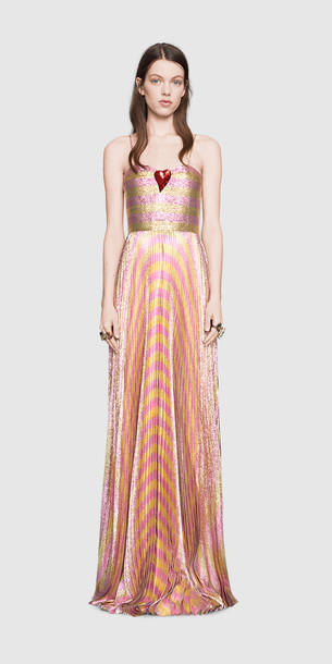 Gucci Ballkleid/Abendkleid mit rotem Herz