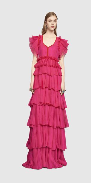 Ballkleid pink Gucci 2016