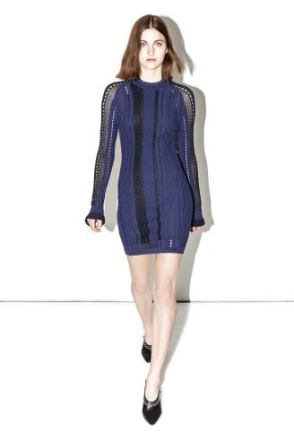 Partykleid - Elegantes Strickkleid dunkelblau - Phillip Lim
