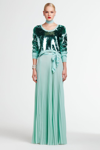 Grüne Abendkleider 2017, fotocredit Elisabetta Fanchi official website