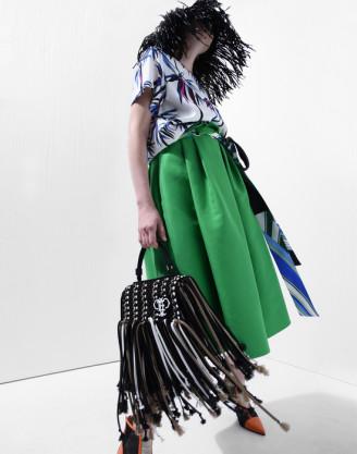 Rock grün und Bluse bunt - fotocredit Emilio Pucci