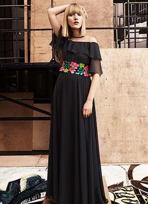 Talbot Runhof Abendkleid schwarz