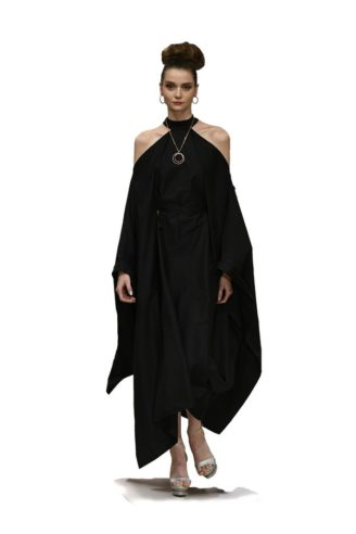 Schwarzes Abendkleid Anja Gockel