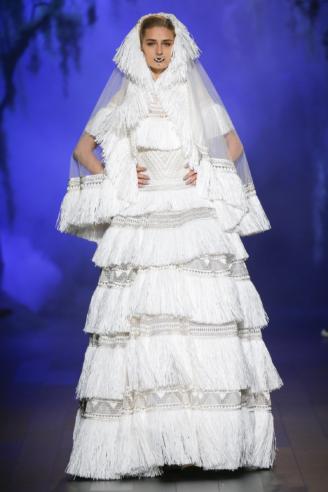 Naeem Khan - modernes Brautkleid mit Schleier