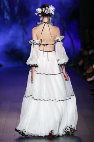 Naeem Khan - modernes Brautkleid - Rückansicht