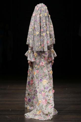 Naeem Khan - mit Blüten besticktes Hochzeitskleid