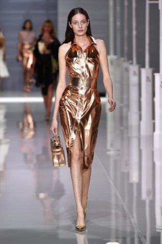 Cocktailkleid in Rotgold-metallisé - Ralph & Russo S/S 2018