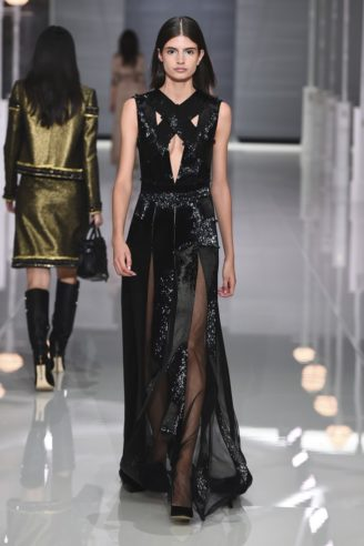 Schwarzes langes Abendkleid New Style - Ralph & Russo S/S 2018