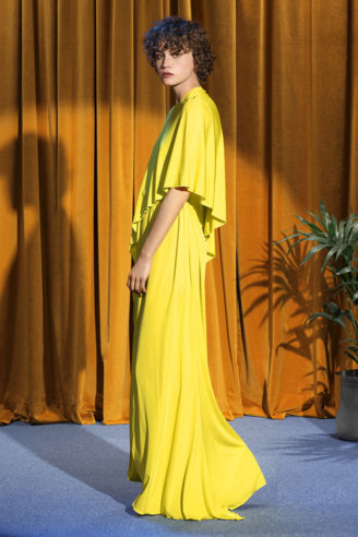 Stella McCartney 2018 - Abendkleid in Gelb in fließender Silhouette